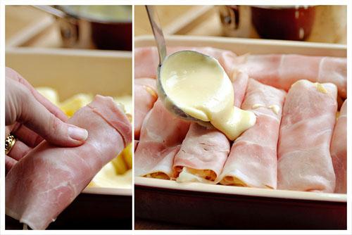 Sauerkraut, Apples & Ham Rolls