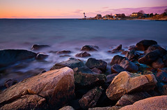 Sunset From Annisquam Light (chris lazzery) Tags: longexposure sunset lighthouse massachusetts gloucester 5d annisquam canonef1740mmf4l annisquamlight bw30nd