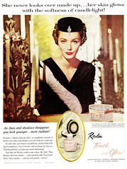 Revlon Touch-and-Glow (saltycotton) Tags: fashion diamonds vintage magazine glamour candles ad hats makeup jewelry advertisement gloves 1950s cosmetics 1959 revlon mccalls touchandglow lucindahollingsworth