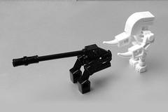 B&W Tablescrap (pasukaru76) Tags: blackandwhite robot lego elite artillery splat moc sigma105mm tablescrap