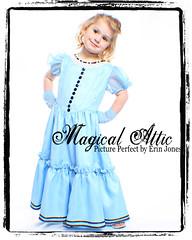 Custom Boutique Tim Burton's Alice in Wonderland Blue Dress (MagicalAttic) Tags: birthday halloween girl costume dress handmade dressup recital disney pageant custommade bluedress customclothing madetosize customdress alicedress