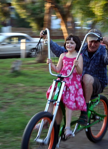 grace and gerard on andy's mates wacky bike