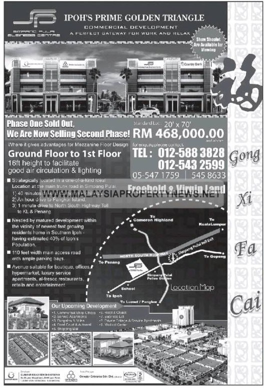 Ipoh's Prime Golden Triangle Commercial Development | MPN.net ...