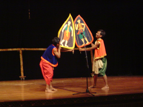 Colored Shadow Puppets - Kok Thlok Theatre Company