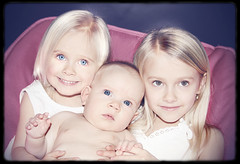 Sweet Sisters (Suzanne Pyle Photography) Tags: girls portrait girl sisters children child purple sweet daughters suzanne delaney carley josey suzannemarie suzannepyle