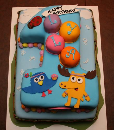 Moose & Zee First Birthday Cake - Lyla
