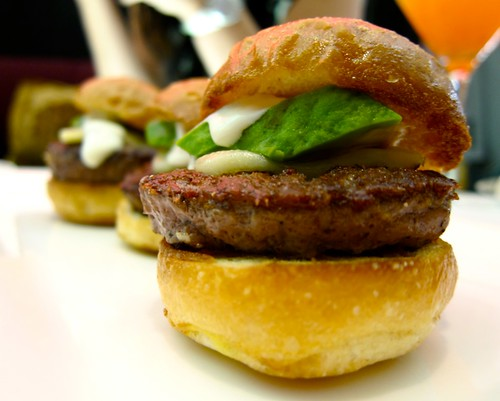 Sliders at Glance Lounge, JW Marriott LA Live