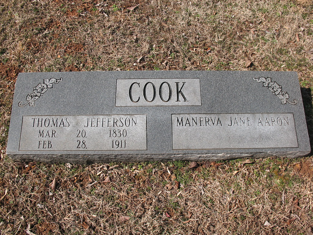 """The Cook Family Cemetery, Bedford County, Tennessee """"The Old Cook Graveyard"""""""