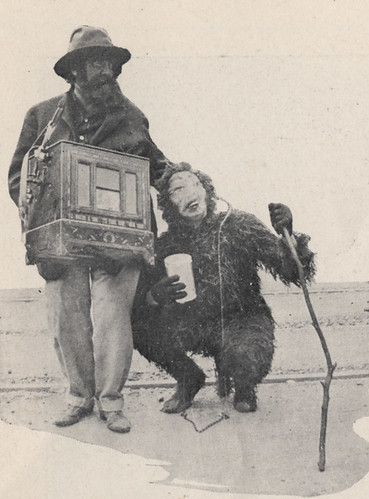 Italian Organ Grinder and Monkey, Portrayed by Dr. R. T. Ustik and Mrs. Will Butterworth, Field Day, 1918