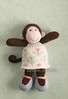 maudie (littlecottonrabbits) Tags: pink blue flower green animal toy monkey softies knitted stuffies