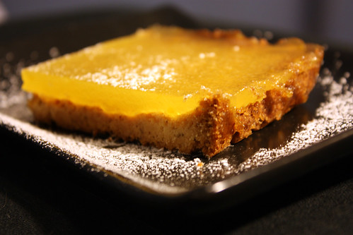 Vegan, Gluten-free lemon bars