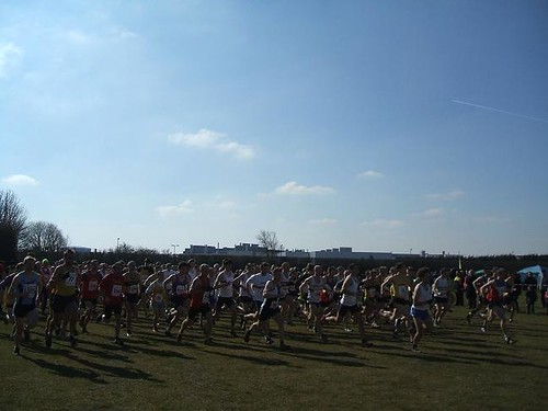 Start of men's xc race at Horspath