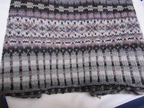 Blocked ribbing