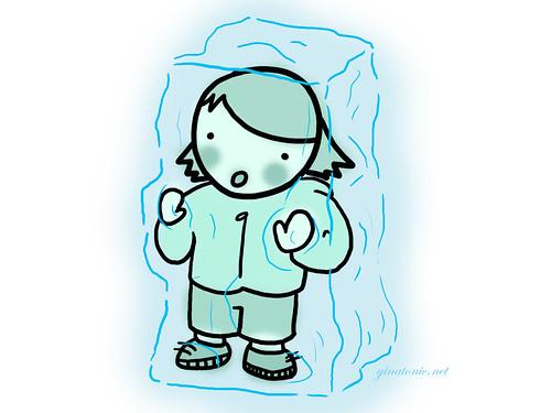 congelada en el hielo en catalunya