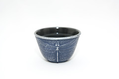 Japanese Iron Tea Cup (beergator) Tags: blue japan japanese tea whitebackground teacup greentea stockphotography