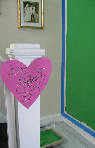 Painting family room heart