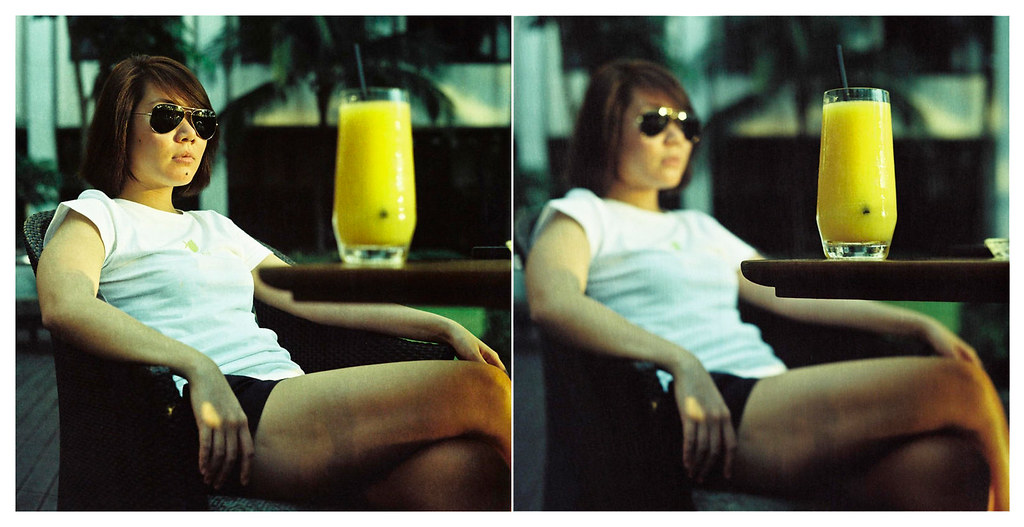 a glass of mango shake and a lot of attitude