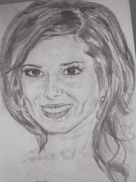 Cheryl Cole portrait sketch by stephs_portraits