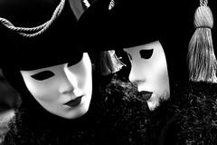 two (Blue Spirit - heart took control) Tags: venice two blackandwhite bw mask bn carnevale venezia biancoenero veneto martedìgrasso marschera sensation2010