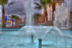 Fuente (Juan Quiles) Tags: blue espaa water fountain spain agua