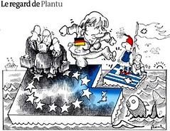 10c18 LMonde Plantu Hay que echar a Grecia del euro (jpquino) Tags: euro grecia monde merkel plantu