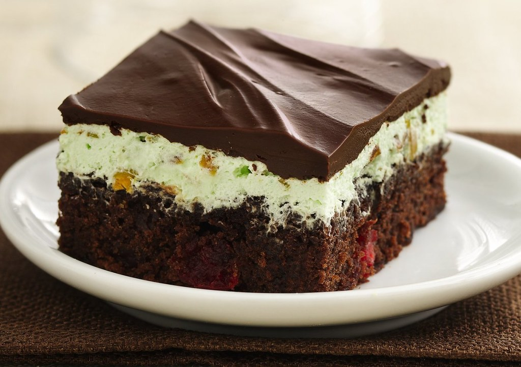 Chocolate-Cherry-Pistachio Brownies