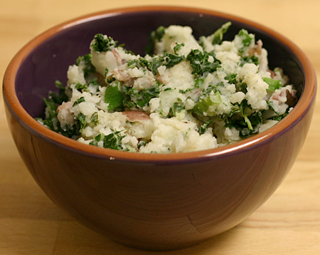 Colcannon (mashed potatoes and kale)