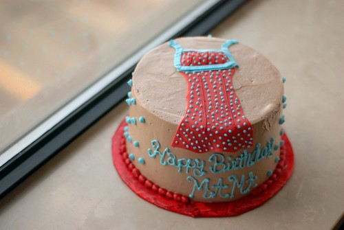 surprise emmeline apron cake