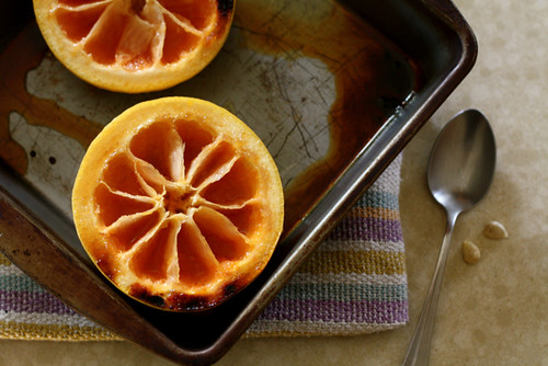 Broiled Grapefruit with brown sugar and ginger