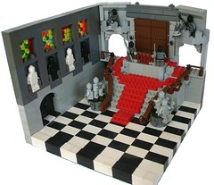 Phantom of the Opera, empty. (Brian Rinker) Tags: stairs movie lego statues scene minifigs phantomoftheopera brickarms