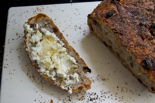 topped with chevre & honey