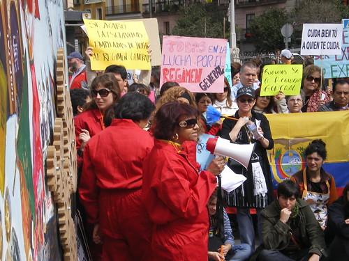 manifestación por los derechos de las empleadas del hogar