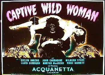 CAPTIVE WILD WOMAN (1943) Slide detail