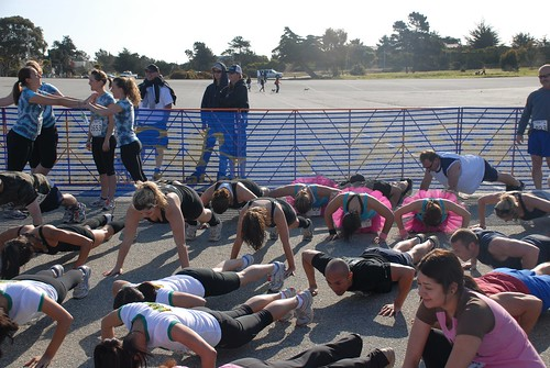 Pushups before the Big Sur Mud Run