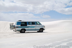 White Sands National Monument (auzzki) Tags: travel camping expedition fun honeymoon exploring wanderlust adventure chevy van justmarried campervan overland g20 vanconversion g20van honeymoonadventure