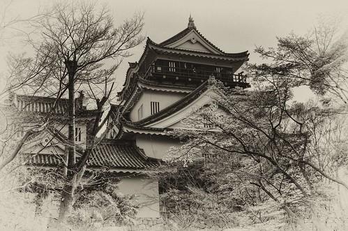 Behind Okazaki Castle