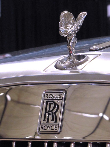Rolls Royce hood ornament, The Flying Lady & logo