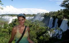Erika at Iguazu