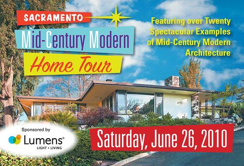 Sacramento Mid-Century Modern Home Tour 2010 Postcard -- Front
