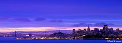 San Francisco morning sunrise blue twilight before the rains. (davidyuweb) Tags: morning blue sunrise twilight san francisco cityscape before hour rains mywinners