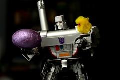 "mmm...  Eggatron (Joriel ""Joz"" Jimenez) Tags: chicken easter chocolate egg chick transformers takara megatron masterpiece decepticon zolo mp05 allhailmegatron toysonblack eggatron"