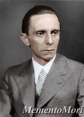 Joseph Goebbels (Arrabiata!) Tags: photomanipulation vintage 1930s antique thirdreich wwii colorized josephgoebbels nazigermany nsdap
