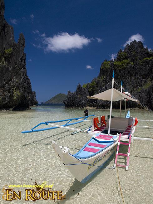 El Nido Matinloc Island Hidden Beach Boat