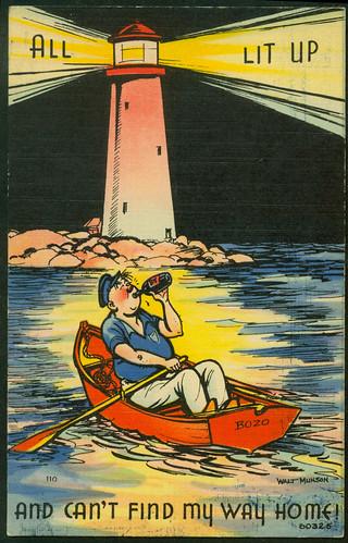 Munson  postcard - drinking comics' 60325