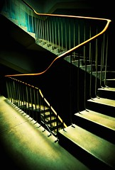 The Mobius Stairs (Semi-detached) Tags: green architecture stairs scotland edinburgh interior steps scottish rail stairwell architectural step worn april block tenement 2010 semdetached