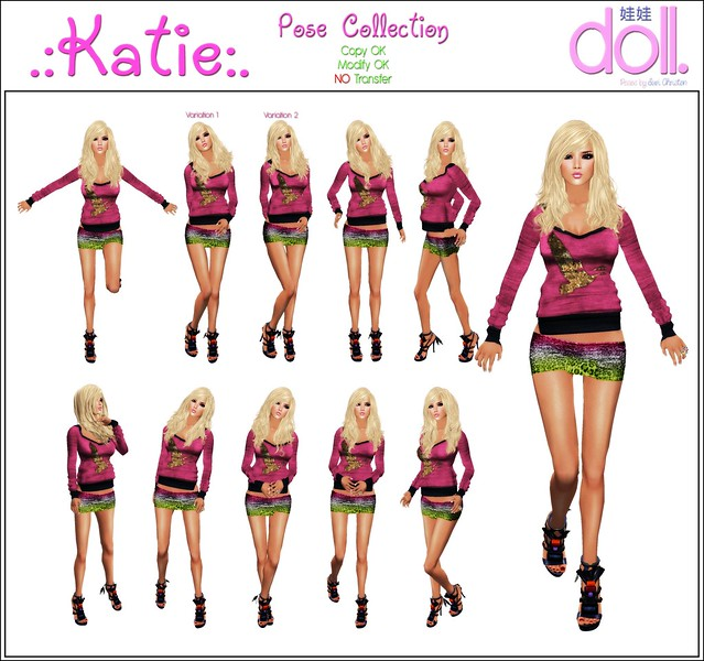 [doll.] Katie Pose Collection