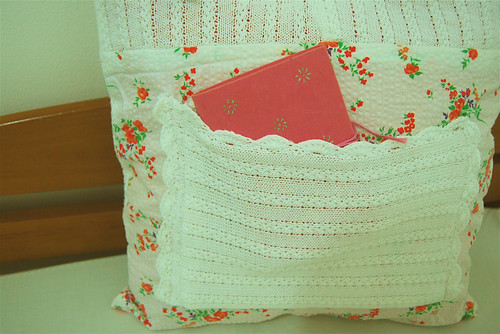 cushion cover with a pocket