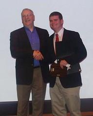 Matt Curtis, winner of the Dandurand Award presented by AANE