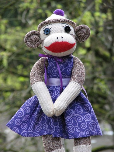 Vintage Sock Monkey Girl