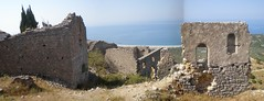 Castle, Himare old town (ArchMess) Tags: castle beach architecture ruins south albania livadi himare himara